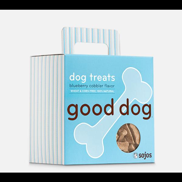 Sojos Good Dog Blueberry Cobbler Dog Treat, 8 oz box