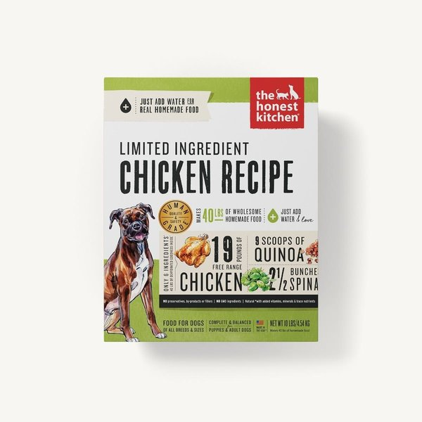 The Honest Kitchen (Thrive) Limited Ingredient Chicken Recipe Dehydrated Dog Food, 10 lb box
