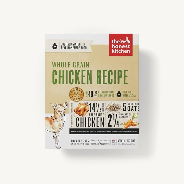 The Honest Kitchen (Thrive) Whole Grain Chicken Recipe Dehydrated Dog Food, 4 lb box