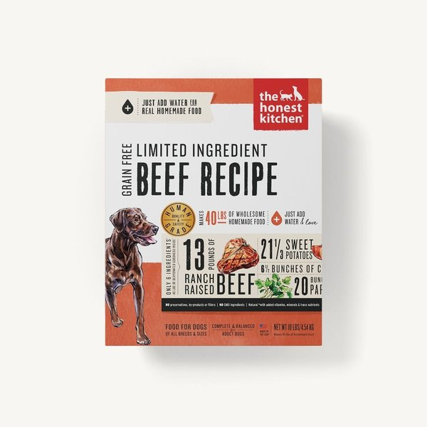 The Honest Kitchen (Hope) Limited Ingredient Beef Recipe Dehydrated Dog Food, 10 lb box