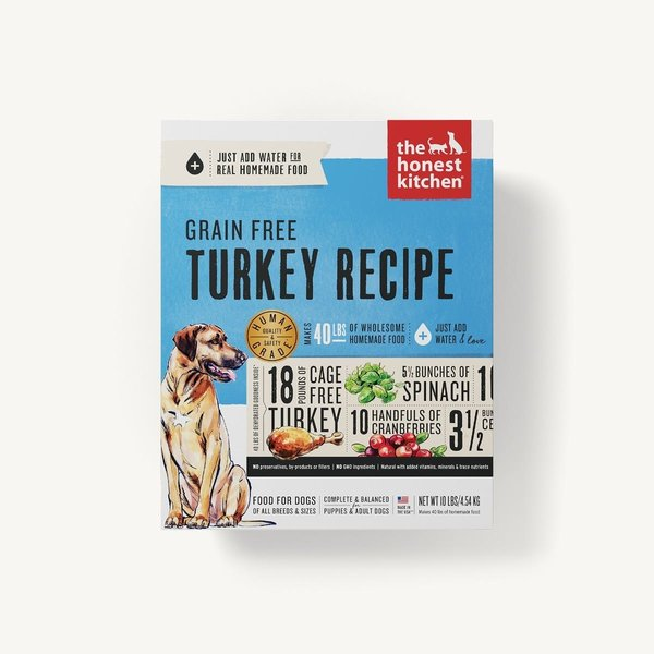 The Honest Kitchen (Embark) Grain Free Turkey Recipe Dehydrated Dog Food, 4 lb box