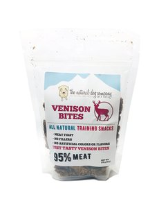 The Natural Dog Company Venison Training Bites Dog Treats, 6 oz bag