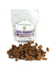 The Natural Dog Company Rabbit Training Bites Dog Treats, 6 oz bag