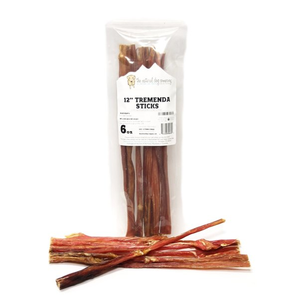 "The Natural Dog Company 12"" Tremenda Sticks, 6 oz bag"