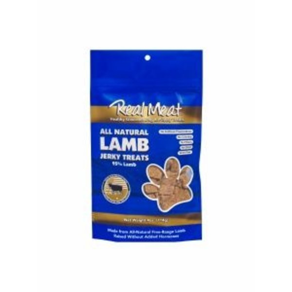 The Real Meat Company Lamb Jerky Bits, 4 oz bag