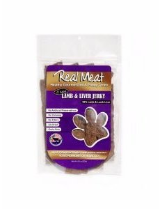 The Real Meat Company Lamb & Liver Jerky Stix, 8 oz bag