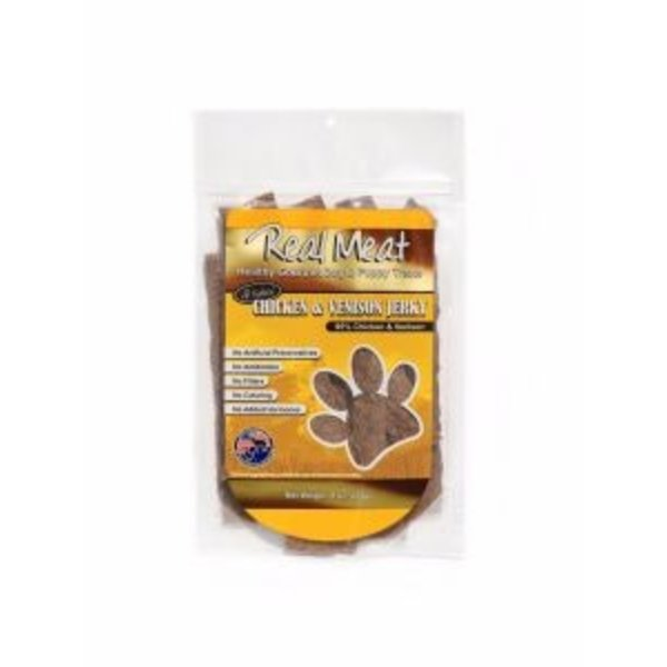 The Real Meat Company Chicken & Venison Jerky Stix, 8 oz bag