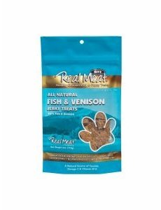 The Real Meat Company Fish & Venison Jerky Bits, 4 oz bag