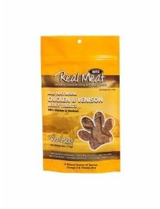 The Real Meat Company Chicken & Venison Jerky Bits, 4 oz bag