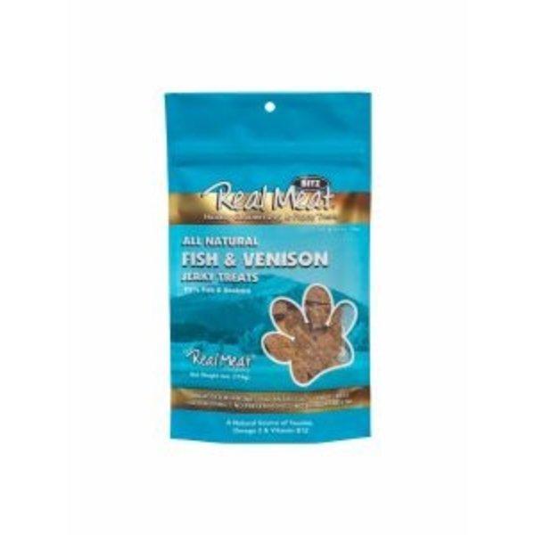 The Real Meat Company Fish & Venison Jerky Stix, 8 oz bag