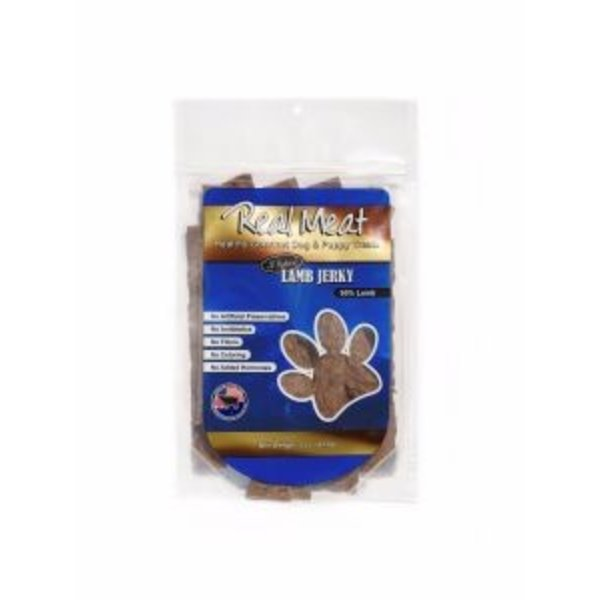 The Real Meat Company Lamb Jerky Stix, 8 oz bag