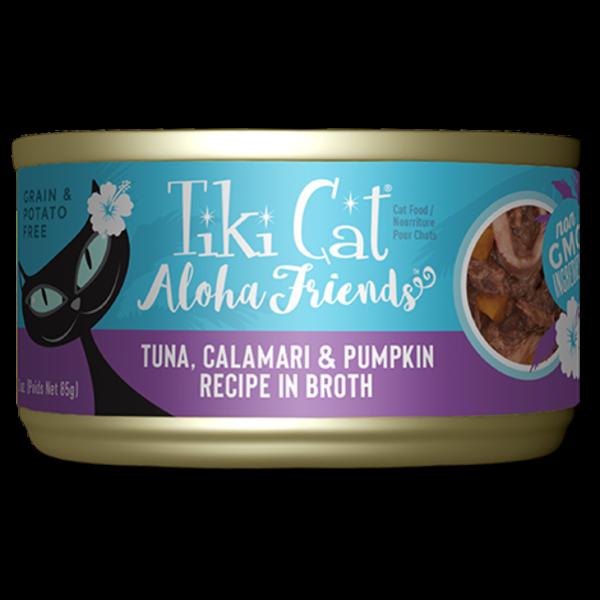Tiki Aloha Friends Tuna, Calamari & Pumpkin Cat Canned Food