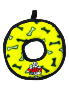 Tuffy Dog Toy Jr Ring, Yellow