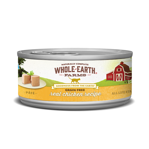 Whole Earth Farms Real Chicken Recipe Cat Canned Food, 5 oz can
