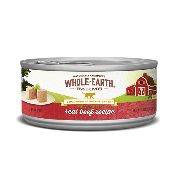 Whole Earth Farms Real Beef Recipe Cat Canned Food, 5 oz can