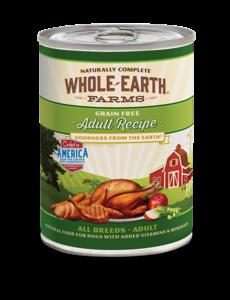 Whole Earth Farms Adult Recipe Dog Canned Food, 12.7 oz can