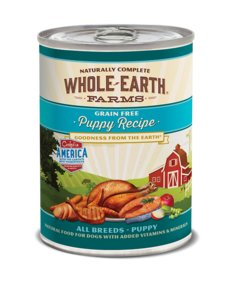 Whole Earth Farms Puppy Recipe Dog Canned Food, 12.7 oz can