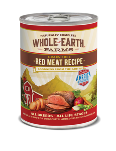 Whole Earth Farms Red Meat Recipe Dog Canned Food, 12.7 oz can