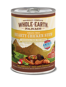 Whole Earth Farms Hearty Chicken Stew Dog Canned Food, 12.7 oz can