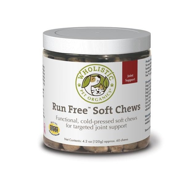 Wholistic Pet Organics Run Free Soft Chews, 60 ct
