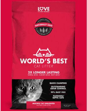 Worlds Best Litter Multiple Cat Unscented Formula, 28 lb bag