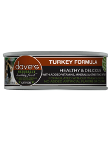 Dave's Pet Food Turkey Formula Cat Food 24/5.5 oz cans (CASE)