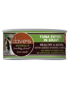 Dave's Pet Food Tuna in Gravy Canned Cat Food, 3 oz can