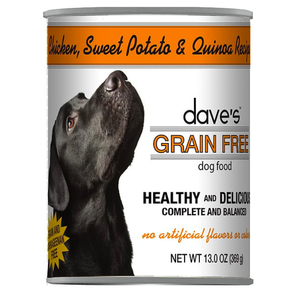 Dave's Pet Food Chicken & Sweet Potato Canned Dog Food, 13 oz can