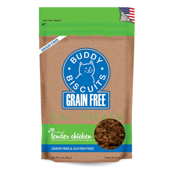 Cloud Star Buddy Biscuits Tender Chicken Cat Treats, 3 oz bag