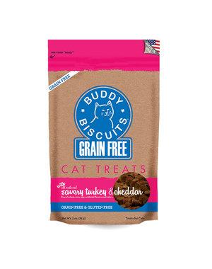 Cloud Star Buddy Biscuits Savory Turkey & Cheddar Cat Treats, 3 oz bag