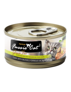 Fussie Cat Tuna with Mussels Canned Cat Food, 2.82 oz can