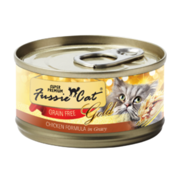 Fussie Cat Chicken in Gravy Canned Cat Food, 2.82 oz can