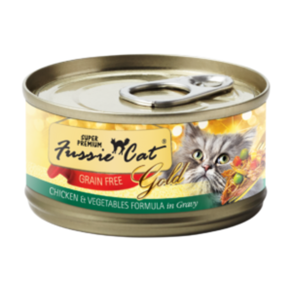 Fussie Cat Chicken with Vegetables Canned Cat Food, 5.5 oz can