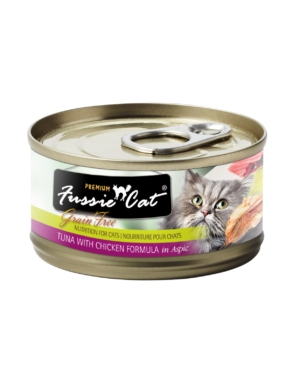 Fussie Cat Tuna with Chicken Canned Cat Food, 5.5 oz can