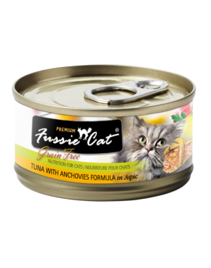 Fussie Cat Tuna with Anchovies Canned Cat Food, 5.5 oz can