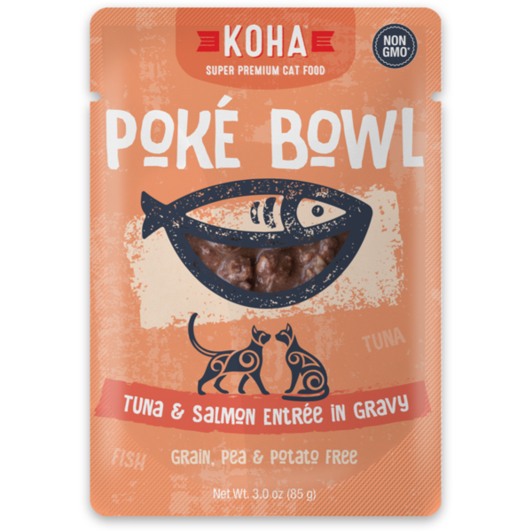 Koha Poke Tuna & Salmon Cat Food Pouch, 3 oz
