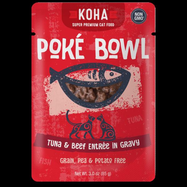 Koha Poke Tuna & Beef Cat Food Pouch, 3 oz