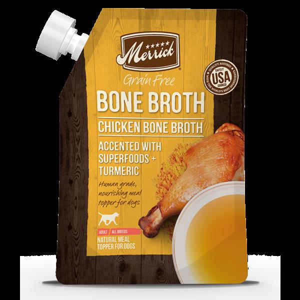 Merrick Chicken Bone Broth, 16 oz pouch