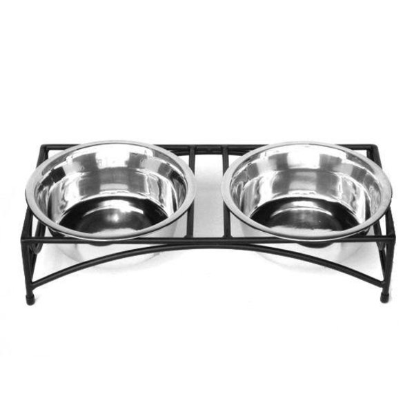 Pets Stop Regal Double Diner Tiny, Silver