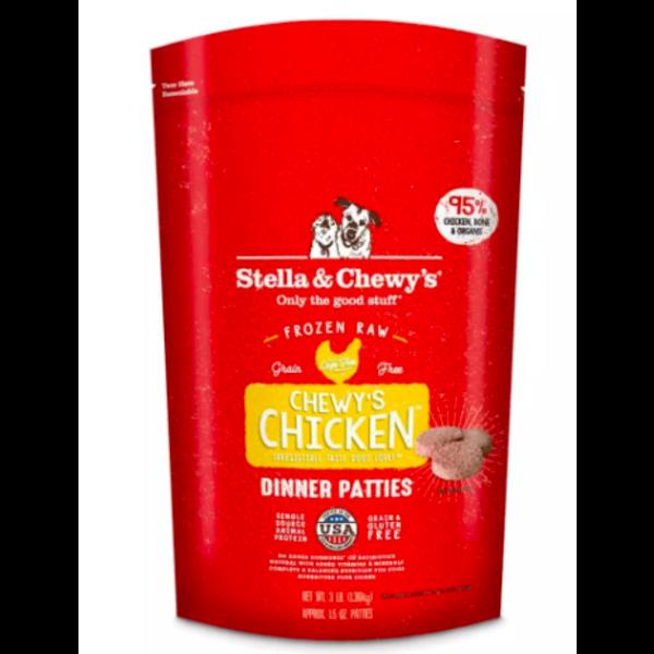 Stella & Chewy Frozen Raw Dog Food Patties, Chicken, 12 lb bag