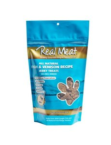The Real Meat Company Fish & Venison Jerky, 12 oz bag