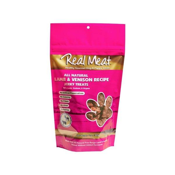 The Real Meat Company Lamb & Venison Jerky, 12 oz bag