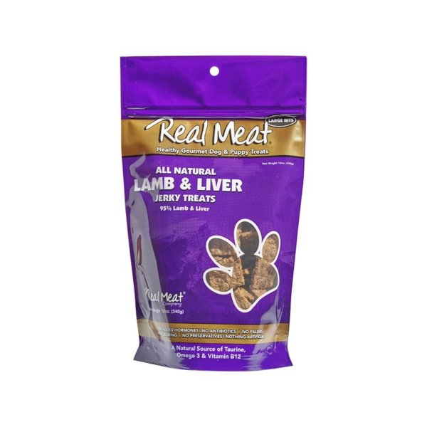 The Real Meat Company Lamb & Liver Jerky, 12 oz bag