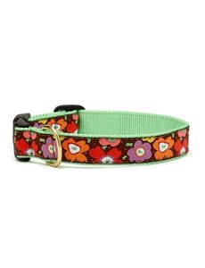Up Country Mod Floral Dog Collar, Medium Narrow
