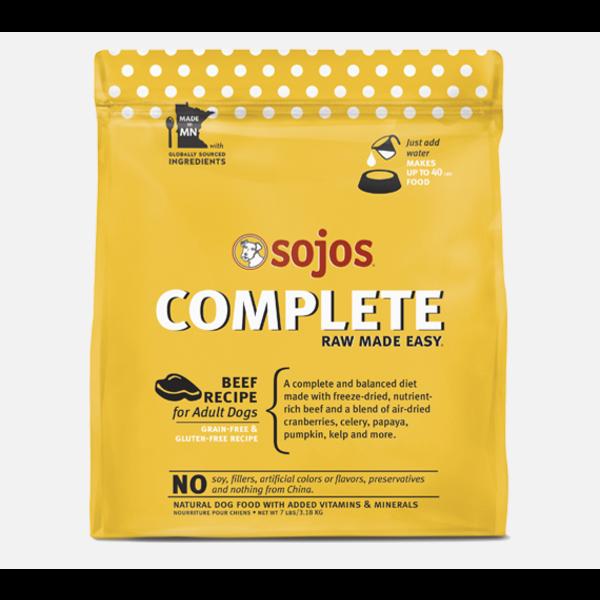 Sojos Complete Diet Beef Dog Food, 8 lb