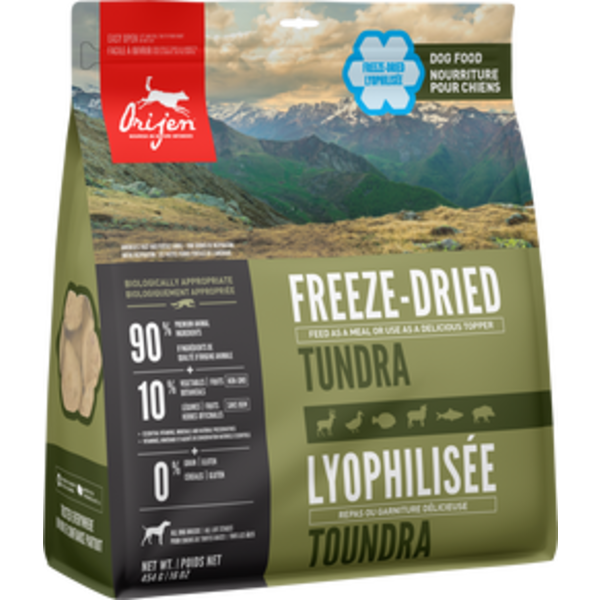 Orijen Tundra Freeze-Dried Dog Food, 16 oz bag