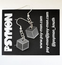 """Cube"" earrings by Simon Knuth"
