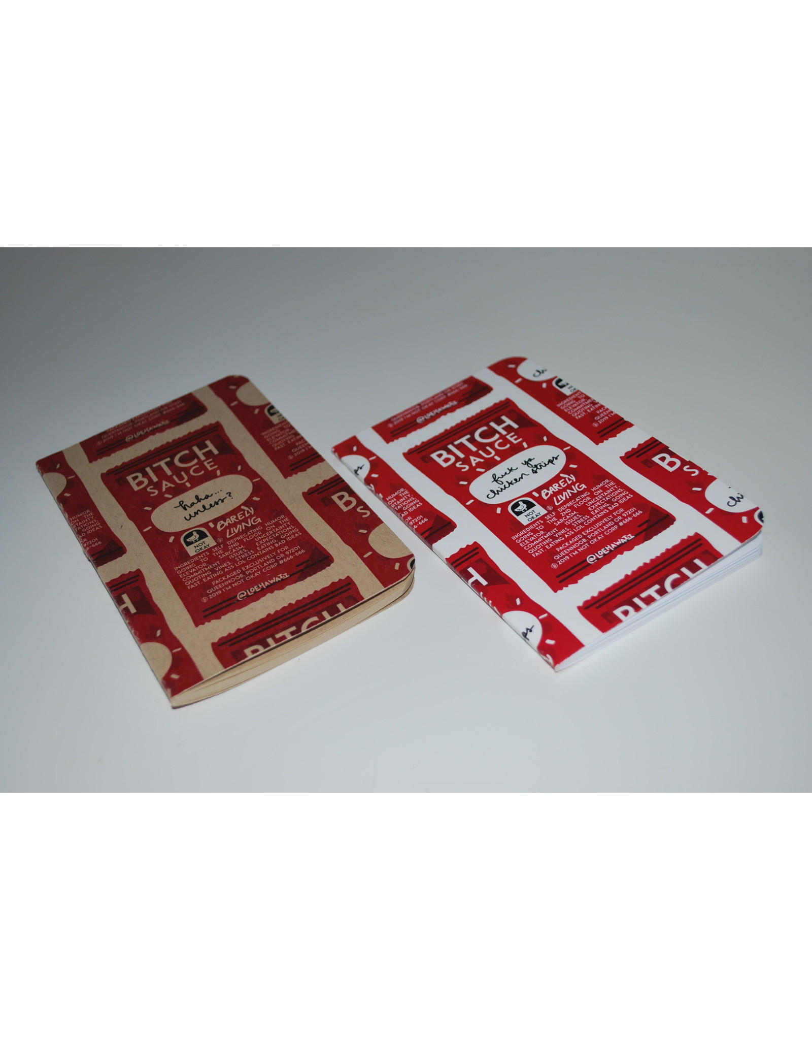 """Bitch Sauce"" Pocket Sketchbooks by LOEHAWAII"