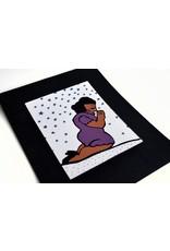 Julia Arredondo Praying Woman Purple, Matted Screenprint by Curandera