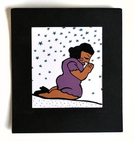 Julia Arredondo Praying Woman Purple, Matted Screenprint by Julia Arredondo/Curandera Press